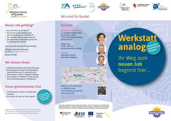 BIWAQ Gmünd Qualifizierung Werkhof Ost